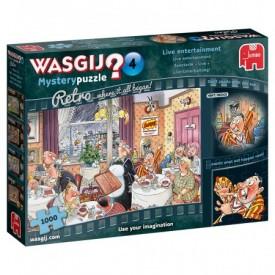 Puzzel 1000 stukjes Wasgij Mystery 4 Retro - Live Entertainment! Wasgij