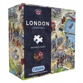 Puzzel 500 stukjes Gift Box London Landmarks Gibsons