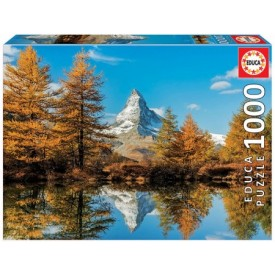 Puzzel 1000 stukjes Matterhorn Mountain in Autumn Educa