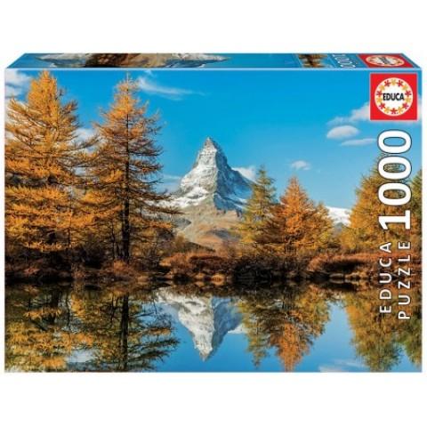 Puzzel 1000 stukjes Matterhorn Mountain in Autumn Educa
