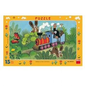 Puzzel 15 stukjes Molletje Puzzel- Trein Dino Toys