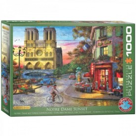 Puzzel 1000 stukjes Notre Dame Sunset - Dominic Davidson Europgraphics