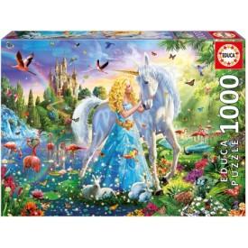Puzzel 1000 stukjes Prinses en de Eenhoorn Educa