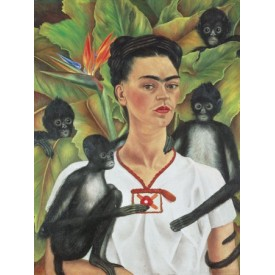 Puzzel 1000 stukjes Self Portrait with Monkeys- Frida Kahlo Piatnik