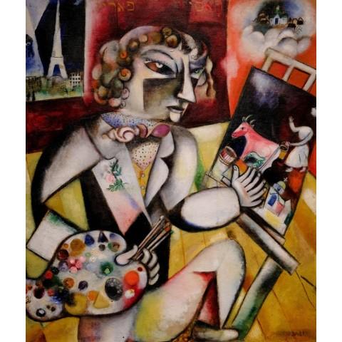 Puzzel 1000 stukjes Self-Portrait with Seven Fingers- Marc Chagall Piatnik