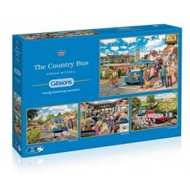 puzzel 4x 500 stukjes The Countrybus one Gibsons