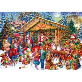 Puzzel 1000 stukjes This Way to Santa Gibsons